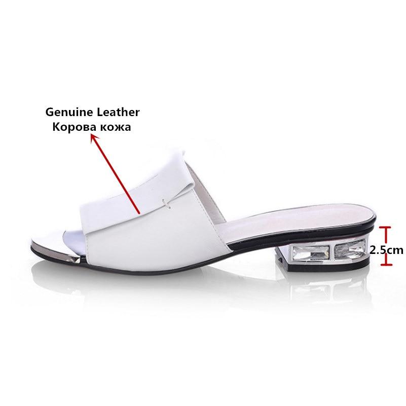 HTB14sALetzJ8KJjSspkq6zF7VXaB FEDONAS 2019 New Women Summer High Quality Square High Heels Pumps Genuine Leather Shoes Woman Sandals Open Toe Ladies Slippers
