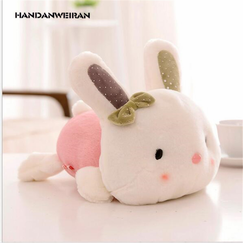 2019 New Lovely Bowknot 20cm Rabbit Little Bunny Plush Toys Small Stuffed Animals Wedding Gift For Girls  Kids