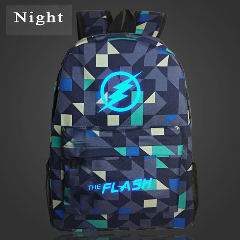 Hot Sale Marvel Movie Stars The Flash Light Backpack Bag Teenagers School Bag Luminous Backpacks for Boys Galaxy Bag Gift Kids