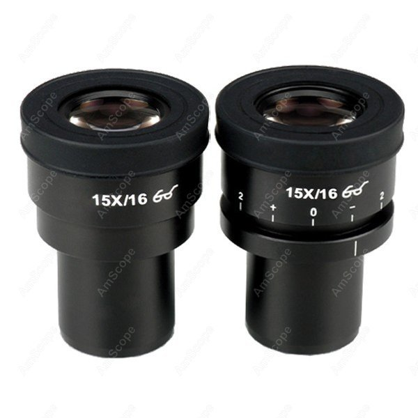 Microscope Eyepiece-AmScope Supplies Pair of Focusable Extreme Widefield 15X Eyepieces (30mm)  цены