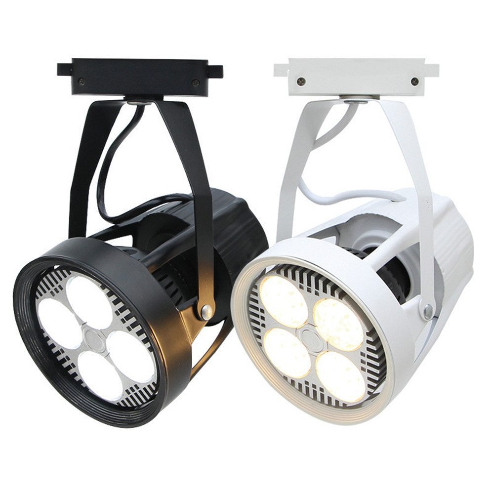 2pcs 35W 40W LED Track Light Par30 Clothing Spotlights Backdrop Shop Windows Slide Rail Track Light Lamp Warm/nature/cold White