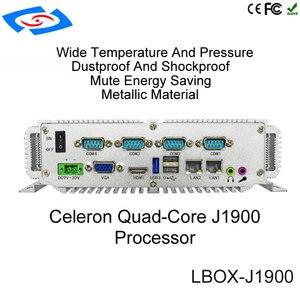 Image 5 - Processeur Quad Core Intel Celeron J1900 embarqué 4G boîtier dordinateur sans ventilateur Mini PC avec prise en charge VGA HDM RJ45 LAN USB GPIO 3G/4G/LTE/WiFi