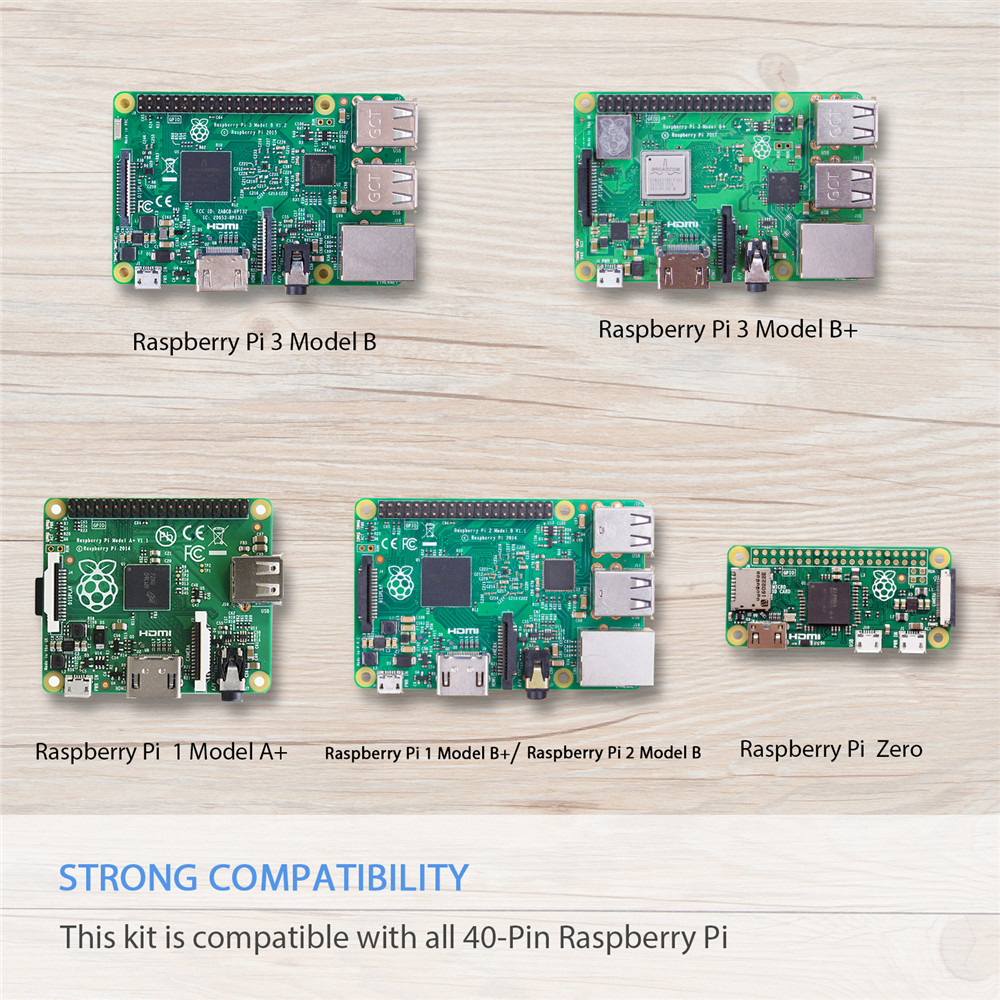 Image 4 - SunFounder Super Starter Learning Kit for Raspberry Pi 3 Model B+ 3B 2B B+ A Zero With instruction Book-in Demo Board from Computer & Office