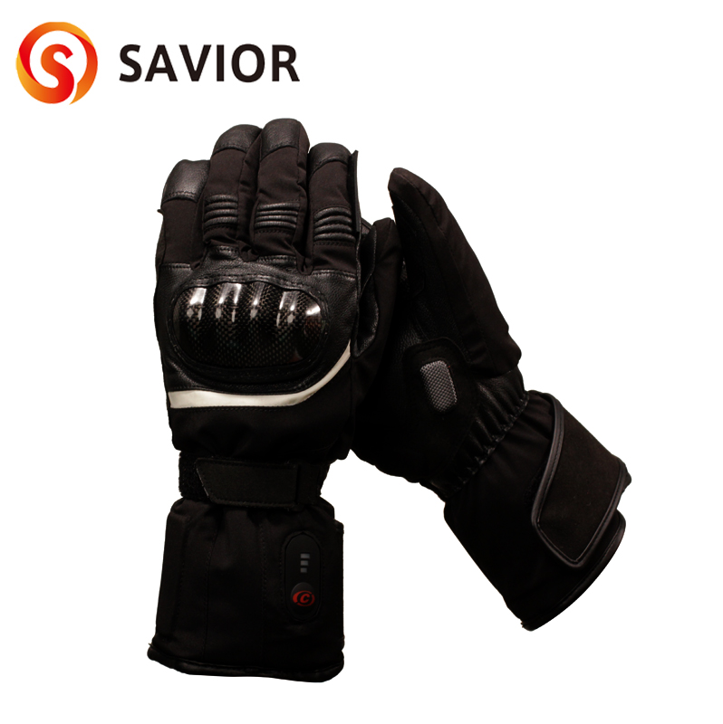 SAVIOR motorcycle heated glove riding racing motorbike winter Outdoors Sports battery Electric Heating KNUCKLE EN13594 3 levels savior s 16 lithium battery electric heating winter gloves for skiing riding cycling low temperature men women