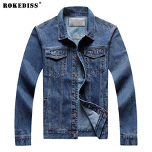 8XL men's clothing 7XL Jeans jacket men 6XL Cowboy jacket denim outerwear  jacket male spring and autumn top TC882