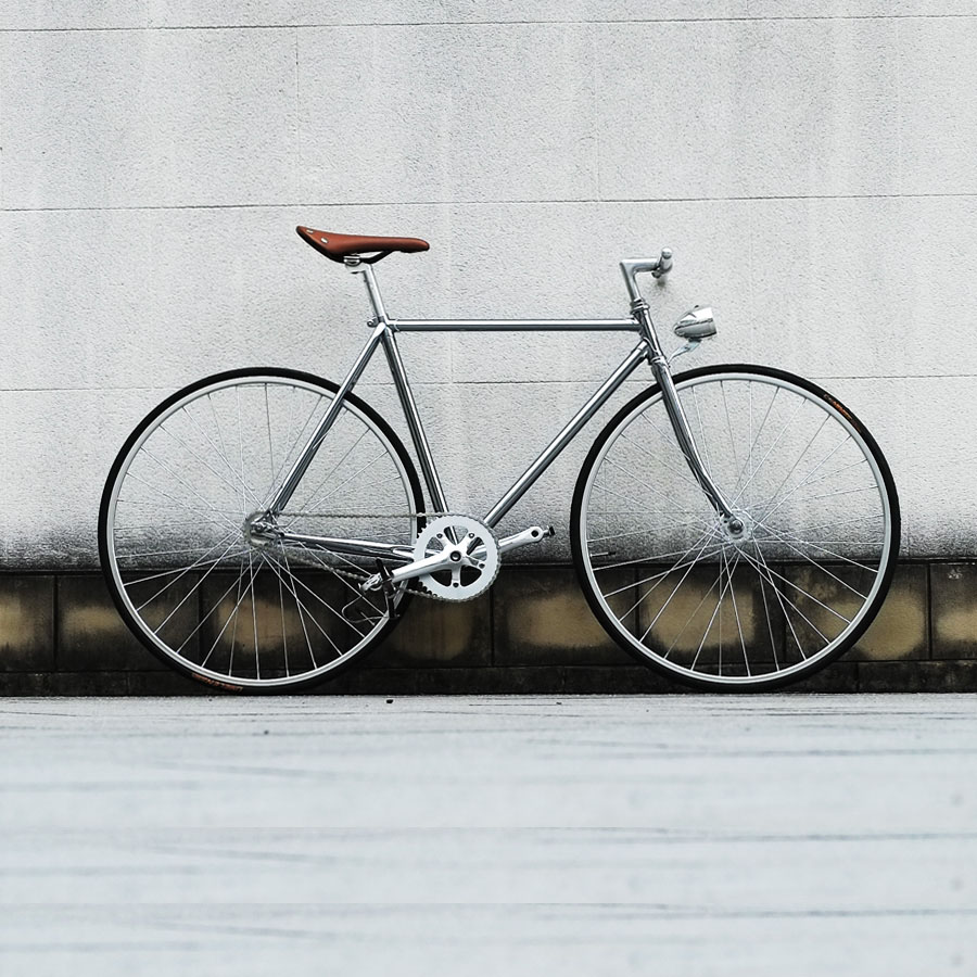 Retro Steel frame sliver  700C Fixed Gear bike Track Single speed Bike  52cm  fixie bike vintage DIY frameRetro Steel frame sliver  700C Fixed Gear bike Track Single speed Bike  52cm  fixie bike vintage DIY frame