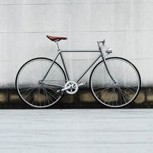 Marco Retro de acero plateado 700C piñón fijo bicicleta pista marcha única bicicleta 52cm bicicleta fixie vintage DIY marco