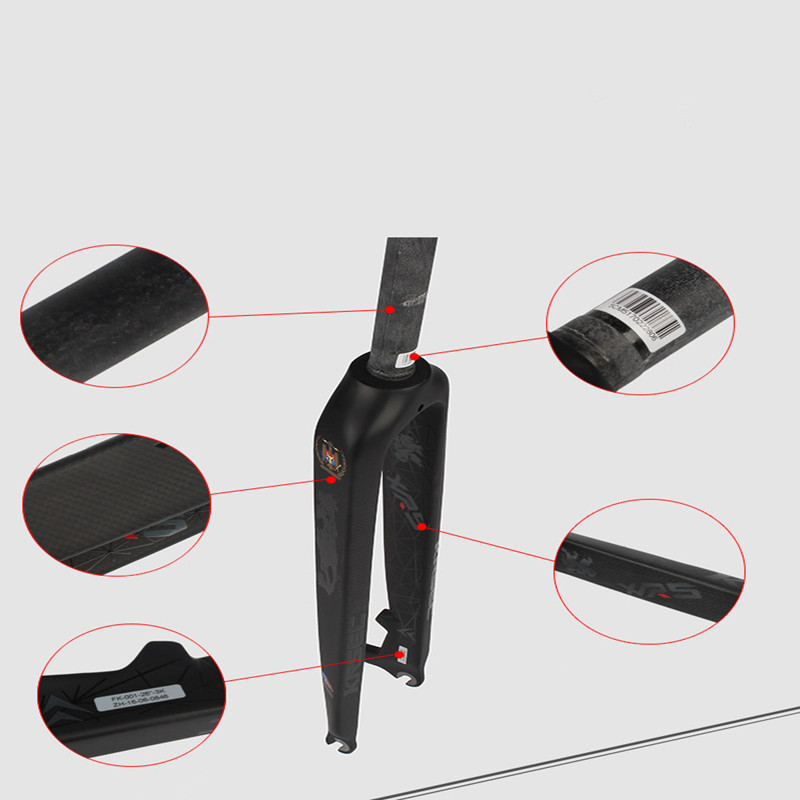 MEROCA all carbon fiber fork front hard 26 27 5 29inch ultralight 515g mountain bike super