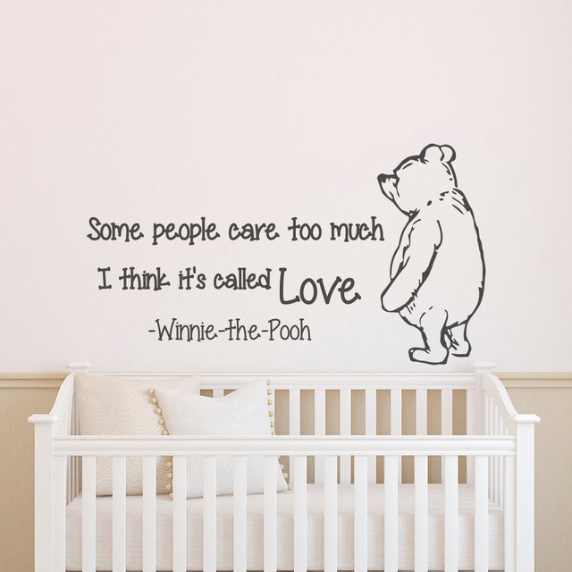 Cartoon Bear Wall Decal Quotes Vinyl Sticker For Kids Room Bedroom Mural Home Decoration Baby