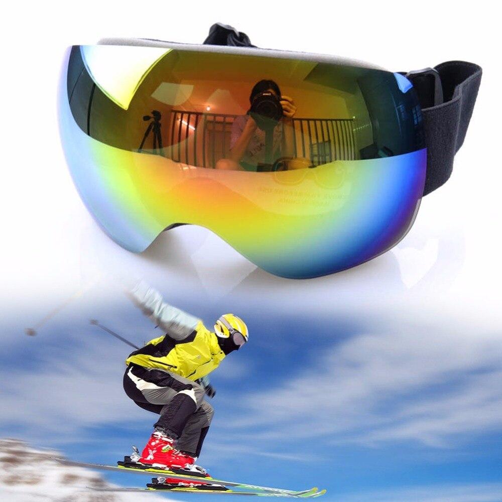 Prix pour Professionnel Ski Motoneige Lunettes Double Lentille UV Anti-brouillard Adulte Snowboard Ski Lunettes Femmes Hommes Neige Lunettes