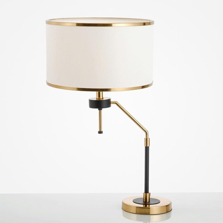 Американский простой настольные лампы моды гладить спальня настольная лампа современные энергосберегающие прикроватные исследование нас...