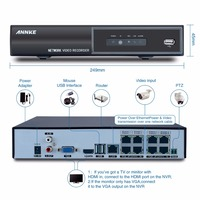 SANNCE 8CH Full HD Onvif 1080P PoE NVR All In One Network Video Recorder For PoE