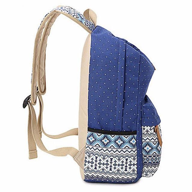 Women School Bag for Teenage Girls Vintage Laptop Rucksack Backpack