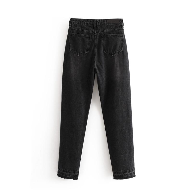 Delgado Agujero Alta Moda Cintura Nueva Casual Jeans 2018 qH0awAA