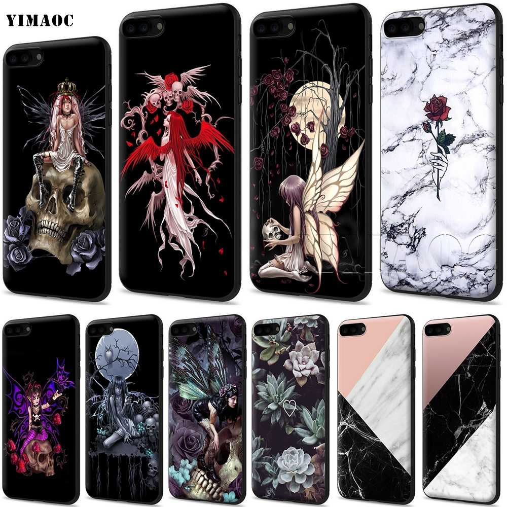Soft Silicone Cover Skull iPhone 6S