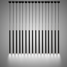 Modern Black LED Dining Room Pendant Lamp Simple Creative Aluminum Hanging Light Cylindric Pipe Bar engineering Lamp