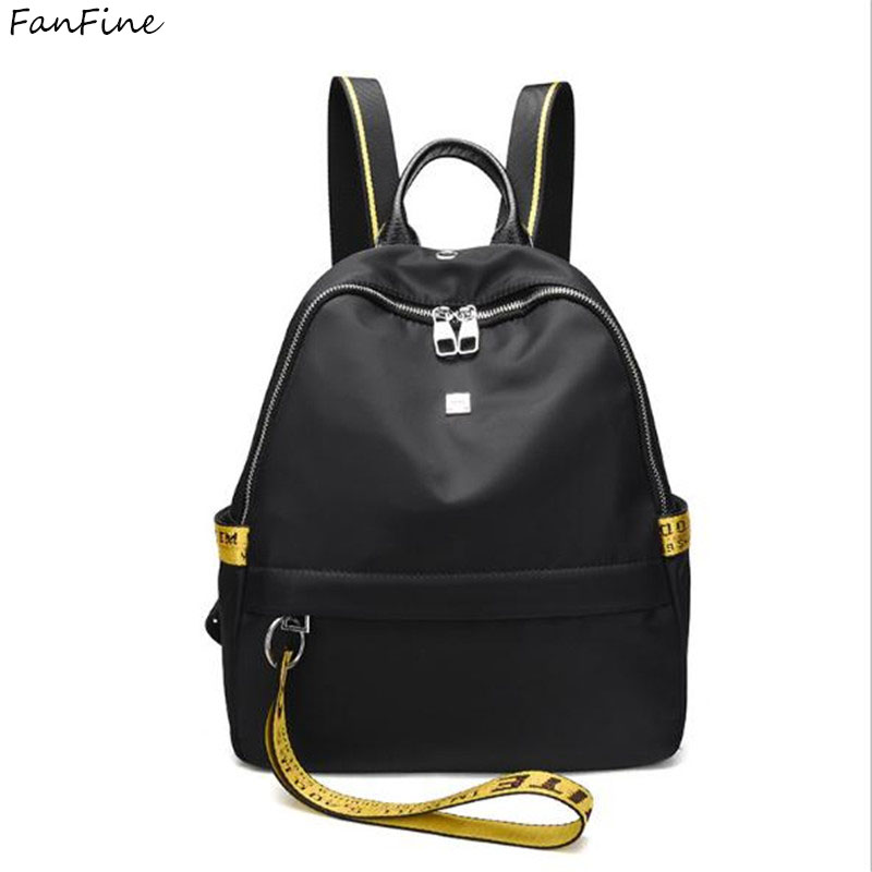 FanFine High Quality pu leather Womens Backpacks Travel Bags Female Black Dailypack Scho ...