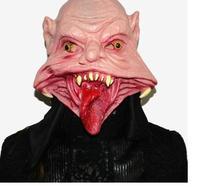 1 adet Cadılar Bayramı Maskesi Masquerade Yumuşak Lateks Maske Parti Malzemeleri Sahne Gelin Siyah Kanama Ile Toptan