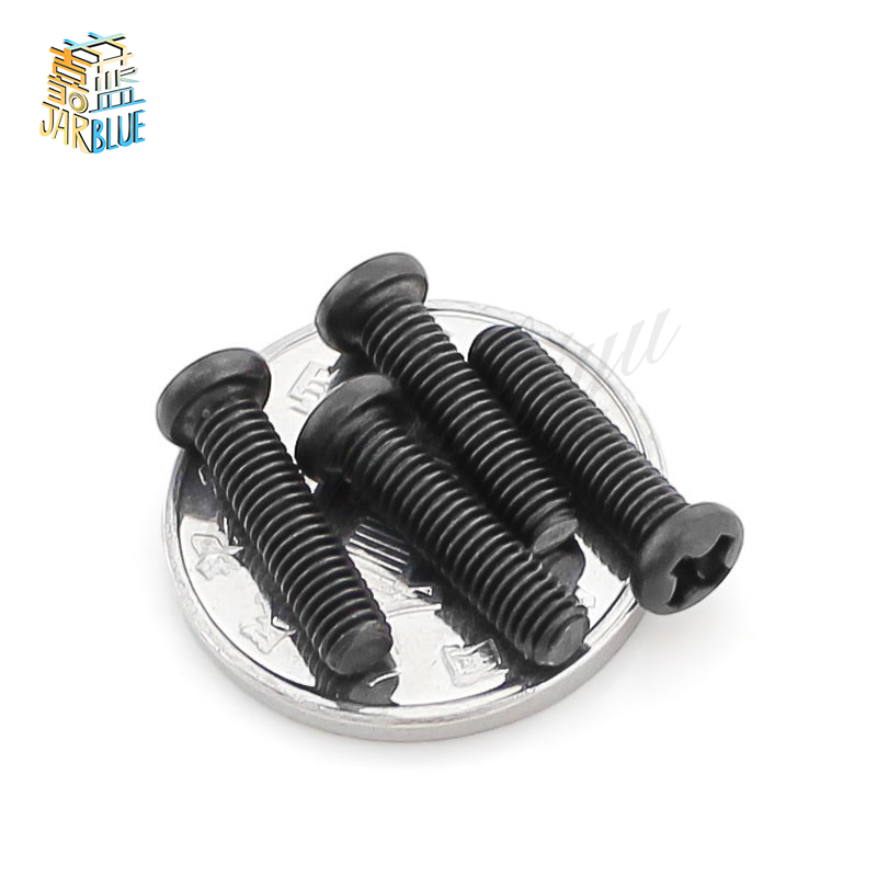 100Pcs M1.4 M1.7 M2 M3 PB Pan Head Black Electronic Micro Screws Phillips Self-tapping Phone Computer Screw SS13