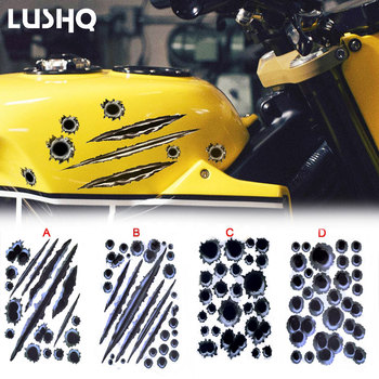 Motorcycle tank sticker Car 3D Bullet Stickers Car Styling For bmw r 1200 gs honda pcx accessories goldwing 1800 honda triumph image