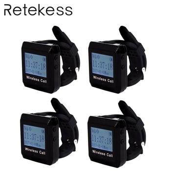 4 шт. 433 МГц ресторан Беспроводная система вызова часы пейджер приемник Официант Вызов пейджер ресторанное оборудование F3258