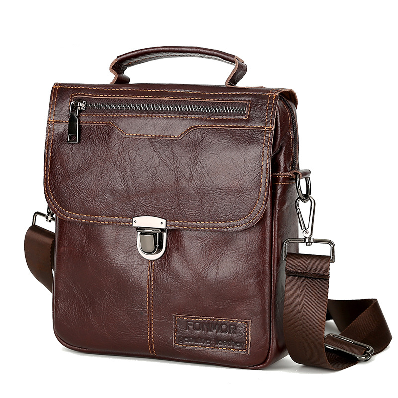 New Genuine Leather Bag top-handle Men Bags Male Shoulder Crossbody Bags Messenger Small Flap Casual Handbags Men Leather Bag tianhoo genuine leather men bags flap messenger bag men s small briefcase man casual crossbody bags shoulder handbags