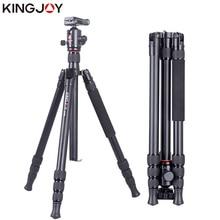 KINGJOY Official K2008+Q20 Tripod Camera Profesional Aluminum Tripe Stand For All Models Digital SLR DSLR Holder Stativ Mobile