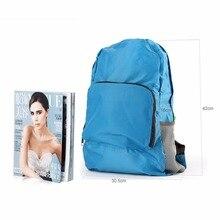 Travel Rucksack Sports Pack Softback 2 Color Men Women Waterproof Backpack Portable Zipper Solid Soft Nylon Outdoor Hiking Bag