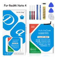 Batteria Ai Polimeri di Litio originale Da Da Xiong BN41 Per Xiaomi Hongmi Nota 4 Redmi Nota 4 4100mAh di Ricambio Del Telefono batterie