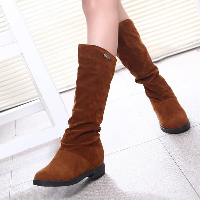 Autumn Winter Women Boots Matte Flock Boots For Female