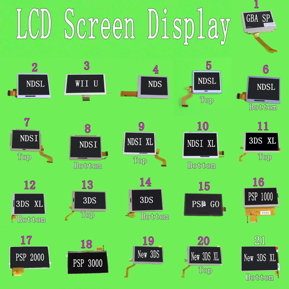 YuXi For 3DS High Quality Replacement Top & Bottom LCD Display Pantalla Screen For New 3DS XL LL For PSP 3000 For ND Si XL LL