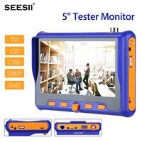 SEESII 5 дюймов 1080 P 3,7 в камера тест er монитор TVI CVI AHD VGA CVI тест HDMI аудио контроль PTZ управление ЖК экран с кабелем BNC