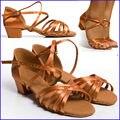 Обувь для бальных танцев  дышащие детские кроссовки для латинских танцев коричневого цвета  высококачественные купоны для студентов на вес...