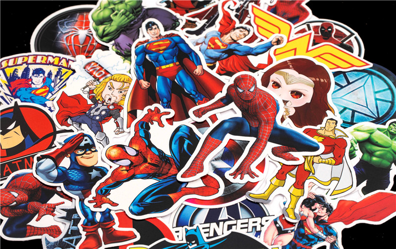 Super Hero Stickers Funny JDM Kids Toy Sticker for DIY Luggage Laptop Skateboard Motorcycle Car Phone Bedroom Sticke (6)