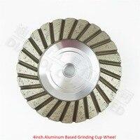 4inch Grit 30 Aluminum Based Diamond Grinding Cup Wheel Diameter 100mm Grinding Wheel For Granite Concrete