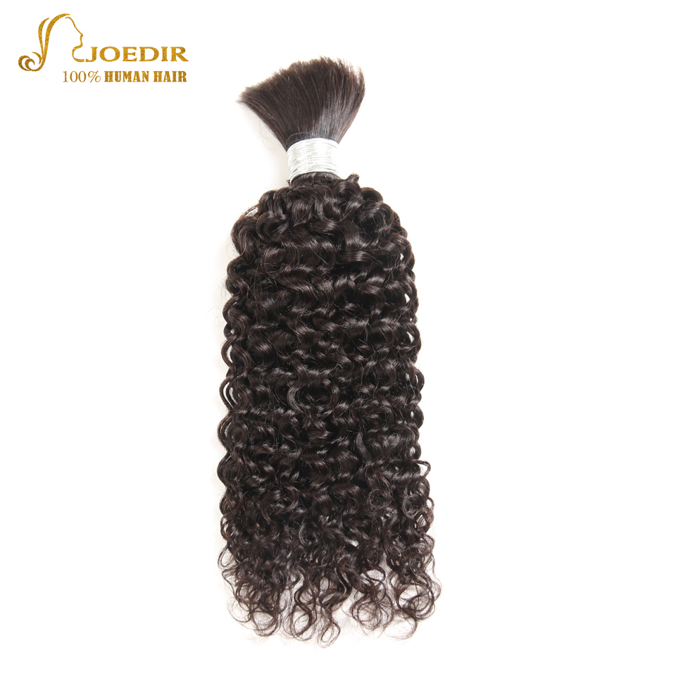 Joedir Indian Hair Kinky Curly Human Hair Bulk Wave 1 Bundle Deal No Weft Remy Hair Free Shipping Natural Color Hair Extension