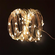 Solar String Lights 5M 50 LED Copper Wire Fairy Waterproof Christmas Power Lamp For Garden Decoration