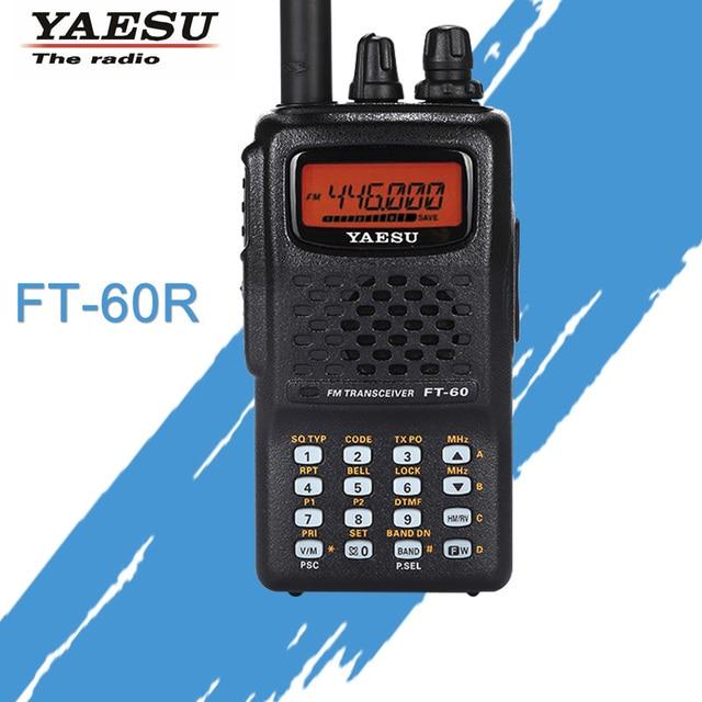 Geral para walkie talkie yaesu FT 60R dupla faixa 137 174/420 470 mhz fm ham rádio em dois sentidos transceptor yaesu ft60r rádio