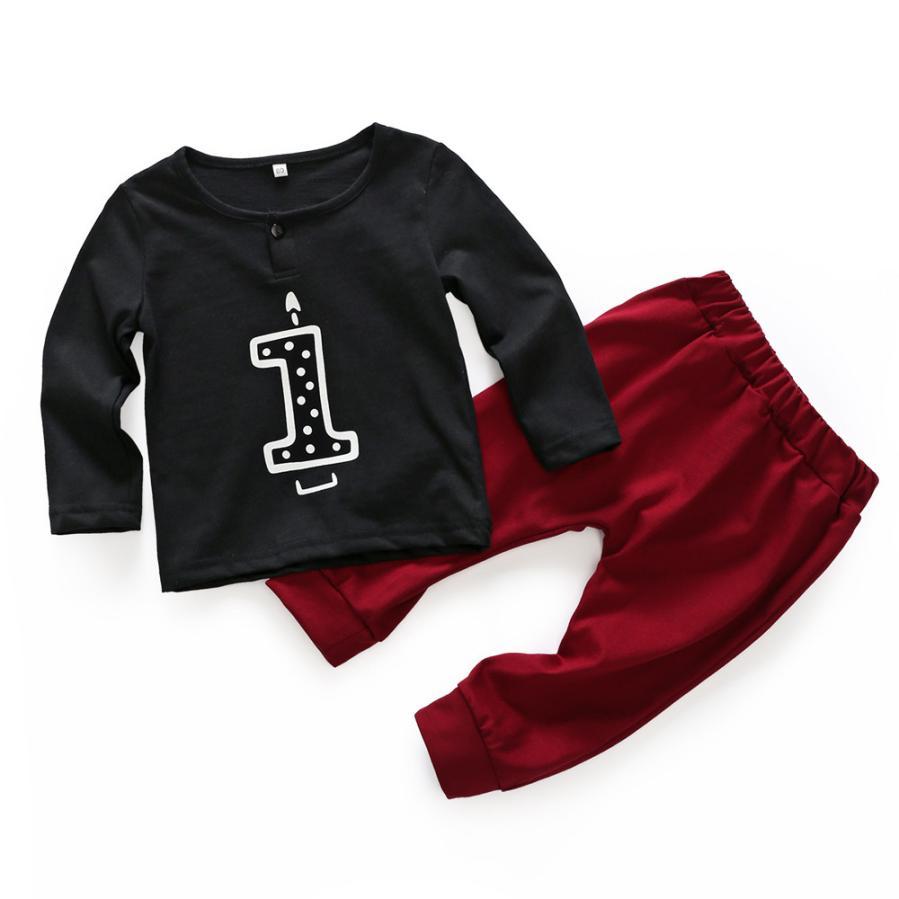 Hot Spring Autumn Kids Boys Clothing Sets Cute Boys & Girls Long Sleeve+Pants 2 Pcs Suits 1-18 month Children Clothes