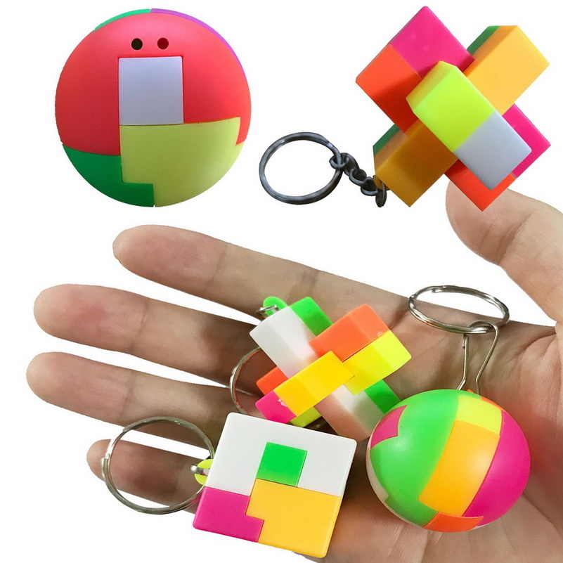 building blocks promotion toys for children classic Birthday gift  intelligence Educational baby kids toy interlocking keychain