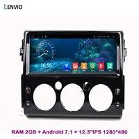 Lenvio 12,3 Восьмиядерный ОЗУ 2 ГБ Android 7,1 автомобиль dvd радио GPS навигация для Toyota FJ Cruiser 2007 2008 2009 2010 2011 2012 2016