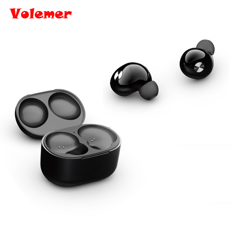 Volemer TWS True Wireless Stereo Bluetooth Earphone with Mic Mini In-Ear CRS 4.2 Bluetooth Earbuds with Tiny Portable Charger 2017 scomas i7 mini bluetooth earbud wireless invisible headphones headset with mic stereo bluetooth earphone for iphone android