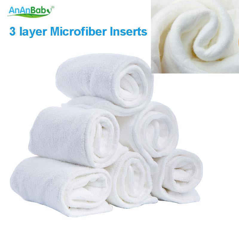 Ananbaby おむつ挿入 30 個通気性 3 層マイクロファイバーインサート洗える Reuasable 赤ちゃんの変更パッド  グループ上の ママ & キッズ からの オムツ替えパッド & カバー の中 1