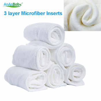 Ananbaby Diaper Insert 30 PCS Breathable 3 Layer Microfiber Inserts Washable Reuasable Baby Changing Pads - DISCOUNT ITEM  21% OFF All Category