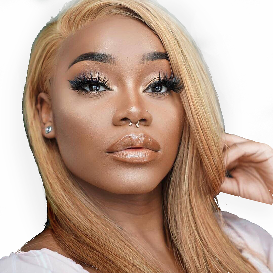 BEEOS Lace Front Blonde Wig Pre Plucked hairline Brazilian Straight Remy Hair Honey Blonde Lace Wigs with Baby Hair