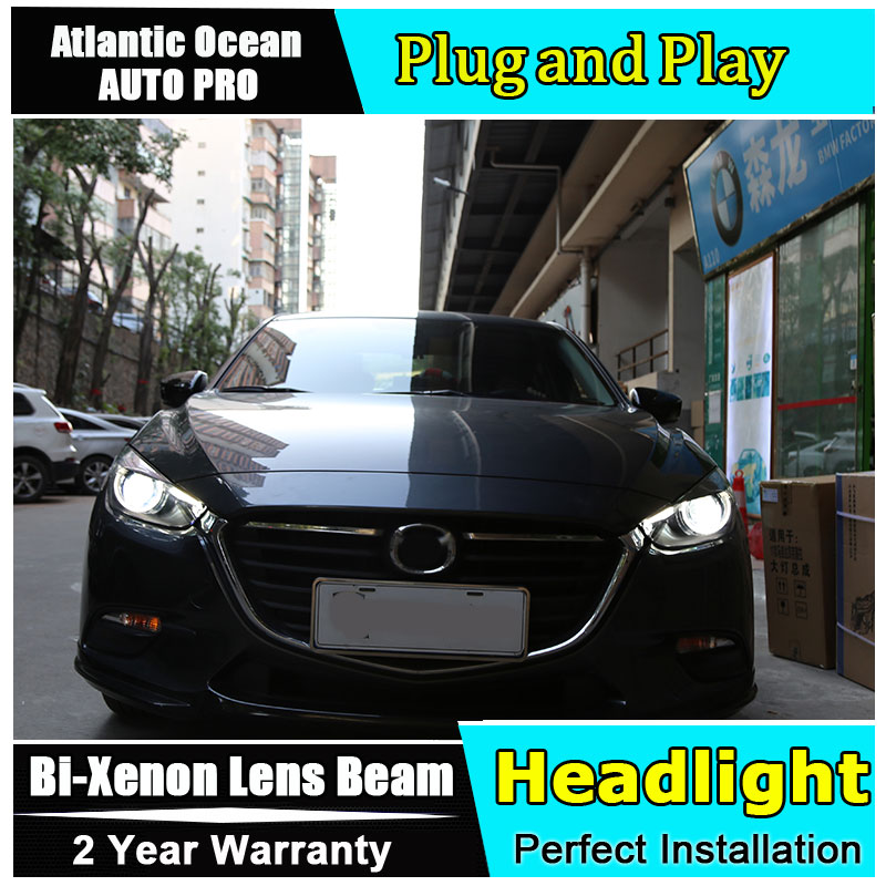 Car Styling for Mazda 3 Axela Headlights 2017 2018 for Axela LED Headlight Lens Double Beam