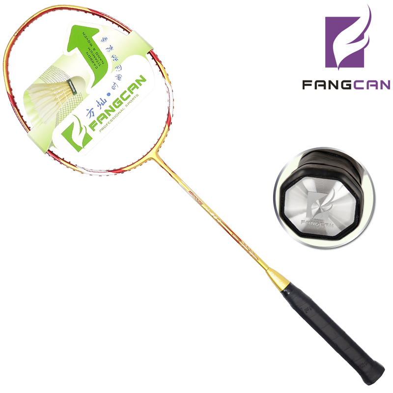 2pcs FANGCAN N90II 100% Carbon Graphite Badminton Racket For Defensive And Offensive Players One Piece Option With String