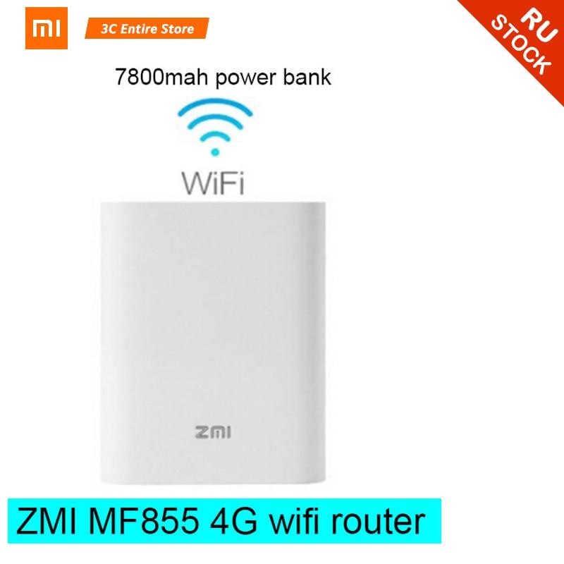 Xiaomi zmi MF855 7800mAh wifi Power Bank 3G 4G Wireless Router power bank Mobile Unicom Telecom 4G LTE Wifi Router power bank