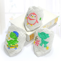 Baby Bandana 6 Layers Cotton Gauze Super Soft And Absorbent Baby Bibs Newborn Triangle Scarf 5pieces
