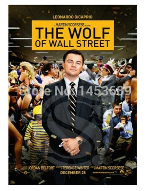 New The Wolf of Wall Street Canvas Fabric Poster Home Decor Custom ...
